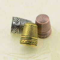 Finger Thimble Hard Protector Metal Sewing Tools DIY Classic Partner F9I5