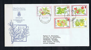 Bermuda 1994 Flowering Fruits Definitive Series- First Day Cover-Used-Addressed