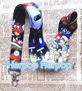 New 10pcs Super Mario Lanyards For ID Badge Mobile Phone Key Chain kids gifts