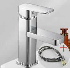 Bathroom Tap Faucet Mixer Tap for Wash Basin Set + Stainless Steel Hose