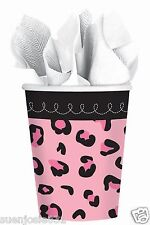 SWEET SAFARI GIRL 9oz Hot Cold Paper Cups 18pcs Pink BabyShower Party Supplies