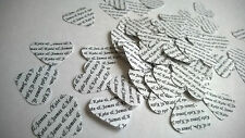 150 Personalised Wedding Heart Table Confetti Vintage White Bride & Groom Hearts