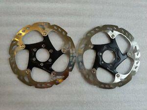 Pair Shimano RT86 Brake Rotors - Silver 6 Bolt