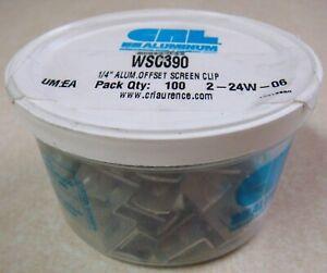 """CRL WSC390 1/4"""" Aluminum Offset Screen Storm Window Clips 100+ Pack"""