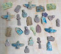 Rare Unique Collection Set of 12 Ancient Egyptian Statuettes Amulets Plaques