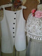 RUNDHOLZ ~German Designer Fabulous Quirky Layering Dress/Waistcoat~Lagenlook~WOW