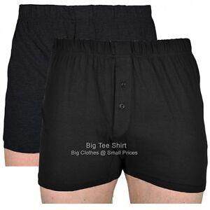 Big Mens Black Charcoal Cotton Valley Eddie Boxers 2xl 3xl 4xl 5xl 6xl 7xl 8xl