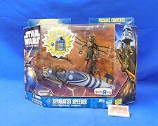 Separatist Speeder with Geonosian Warrior Star Wars Clone Wars Hasbro Sealed TRU