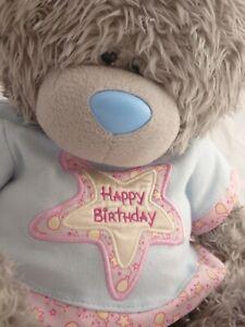 "XL Tatty Teddy Bear-Me to You Bear 21"" Happy Birthday t-shirt Bear-Fab condition"