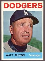1964 Topps Baseball #101 Walter Alston Los Angeles Dodgers - SBID004