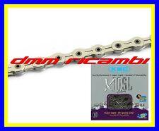 Catena KMC X10 SL Bici MTB BDC TREKKING 10V Silv. compatibile SHIMANO SRAM X10SL