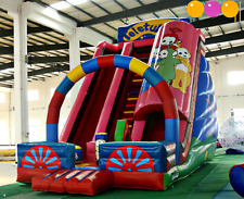 27x17x23 Commercial Inflatable Teletubby Water Slide Bounce House Castle Course
