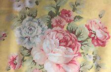 "Summer Valance Yellow Shabby Chic Rose Custom Window Cotton fabric 43""W x 15""L"