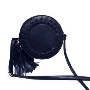 Round Girl Tassel Woven Crossbody Women Shoulder Knitting Circular Messenger Bag