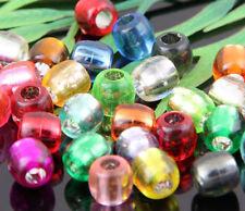 Free Ship 50Pcs Random Mixed Acrylic Tube Spacer Beads 7.5x7mm