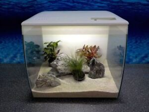 Fluval Flex 34l Nano Aquarium Blanc Complet+Filtre Installation+ RGB Lumière
