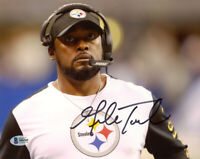 MIKE TOMLIN SIGNED AUTOGRAPHED 8x10 PHOTO PITTSBURGH STEELERS COACH BECKETT BAS