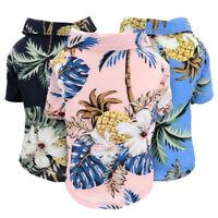 Hawaiian Pet Dog T Shirts Cat Dog Summer Beach T-Shirt Vest for French Bulldog