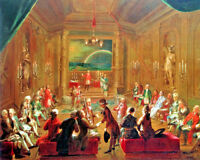 Vintage Freemason Initiation Painting 8x10 Real Canvas Giclee Art Print New