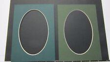 Picture Frame Mats set of 2 mats 5x7 for 4x6 photo oval Dark Green Assortment