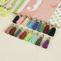 Women Leather Tassel Keychain Purse Bag Buckle HandBag Jewe Keyring Pendant Z8M0