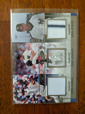 2003 Fleer Mystique Derek Jeter / Jason Giambi Rare Finds Jersey #/75