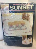 "Sunset ""Almost Perfect Quilt"" Stamped Cross Stitch Kit 13084 3 Angels. Babyhugs"