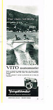 PUBLICITE ADVERTISING 044  1963  VOIGHTLANDER appareil photo  VITO automatic