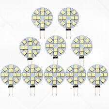 10X 5050 SMD 12 LED G4 Base Side Pin light Car Reading Bulb DC 12V Cool White