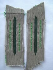 WW2 Grass green collartabs for Motorized Inf. or Panzer grenadir. ORIGINAL! Mint