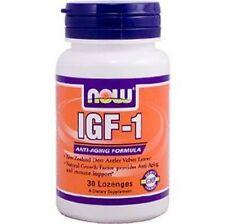 NOW Foods IGF-1 New Zealand Deer Antler Velvet Extract 30 Lozenge Fast Free Ship