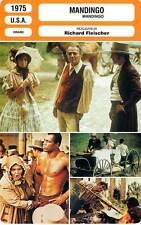 FICHE CINEMA : MANDINGO - Mason,George,King,Fleischer 1975