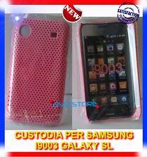 Pellicola+Custodia MESH ROSA per Samsung I9003 GALAXY SL