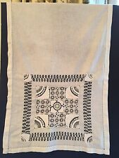"Antique victorian i Lace Handmade  19"" X 29"" White Cotton Sampler"