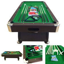 8' Feet Billiard Pool Table Vintage Green 8FT Snooker Full Set Accessories