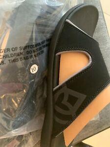 Spenco Men's Kholo Plus Black  sandal slide slip-on Medium D, M CARBON /PEWTER