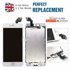 """iPhone 6 Plus 5.5"""" White LCD Touch Screen Replacement Digitizer & Display Button"""