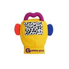 Guanto Gummee dentizione bambino guanti di pelle in silicone a forma di anello Teether GIALLO 3 - 6 M