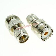 10x Mini UHF Male PL259 To UHF Female SO239 Kenwood Antenna to Motorola Adapter