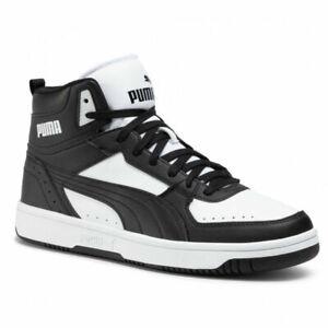 PUMA Mens Rebound Joy Shoes Casual Black White Trainers 374765 01 UK 11