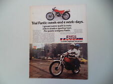 advertising Pubblicità 1978 MOTO FANTIC TX 250 TRIAL 125 cc