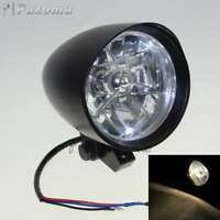 "Black 4.5"" Headlight H4 55/60W Bulb Head Lamp Fits Harley Sportster XL Models"