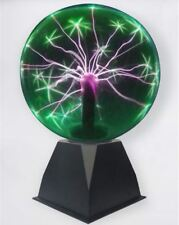 Green & Purple Sound and Touch Responsive Plasma Ball Lamp, Novelty Motion Light