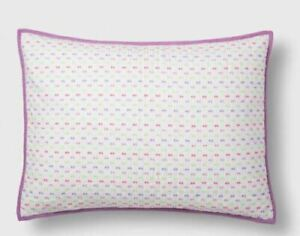 Pillowfort Standard Dash Pillow Sham Violet  NWOP