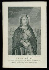 santino incisione 1800 S.CATERINA V.M. koppe