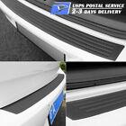 1pcs Accessories Car Rubber Rear Guard Bumper Protector Trim Cover Us Shipping