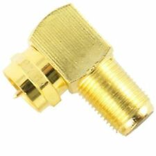 1PC 90° Degree Right Angle Gold Plated F RG59 RG6 Coaxial Coax Connector Adapter