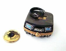 Limoges Box - CD Player with Headphones and Gold CD