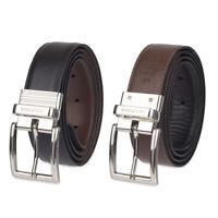 Tommy Hilfiger Men's 11TL08X013 Premium Reversible Leather Belt