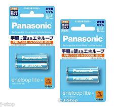 New! 4 Panasonic Eneloop Lite 5000 Times Rechargeable NiMH Batteries AAA 550mAh